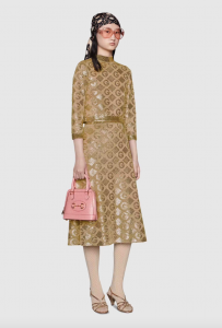 What to wear to a wedding - Lamé G Rhombi Jacquard Skirt & Top by Gucci