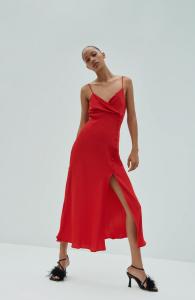 What to wear to a wedding - Satin Camisole Dress by Zara