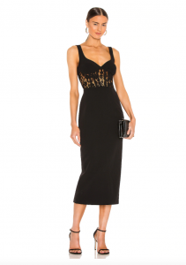 What to wear to a wedding - Corset Lace Panel Dress by Bardot