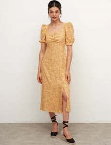 What to wear to a wedding - Yellow Floral Rosie Midi Dress by Nobody's Child
