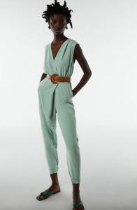 What to wear to a wedding - Wrap Jumpsuit W. Belt by Zara