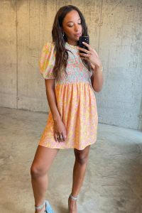 What to wear to a wedding - Vintage Floral Mini Swedish Dress